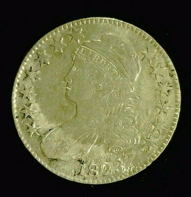 1823 CAPPED BUST SILVER HALF 50c    (8949)