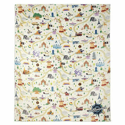 Disney Parks 2020 Mickey Mouse Park Life Icons Fleece Throw Blanket New