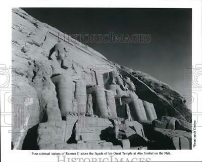 Press Photo Statues of Ramses II at the Great Temple in Abu Simbel - lrp40284