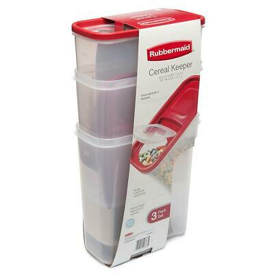 Rubbermaid Cereal Keeper Storage 3 Pack Flip Top Cereal Container No Ship Califo