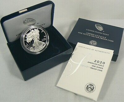 2020-W Silver Proof American Eagle 1 oz Coin (ogp/coa) READY TO SHIP