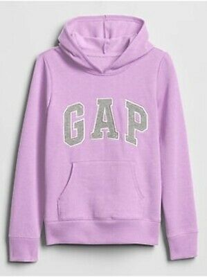 NWT Gap Kids Girls Logo Hoodie Sweatshirt Lavender    Small 6/7