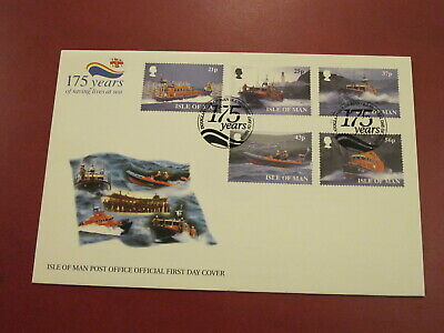 1999 Isle of Man Stamps First Day Cover- Royal National Lifeboat Institute RNLI