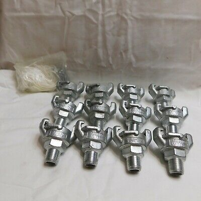 12 M-1/2 Air Fittings with Clips