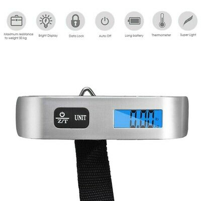 Electronic Luggage Hanging Travel LCD Digital Scale Tool 50kg Weight Portable