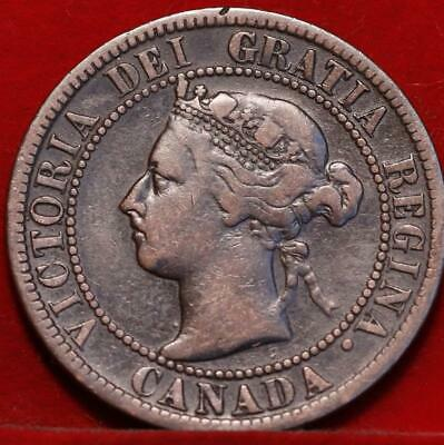 1899 Canada One Cent Foreign Coin