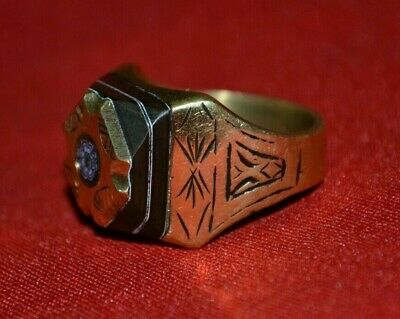 Rare Ancient medieval Viking Military Bronze Ring Museum Quality ONE OF A KIND
