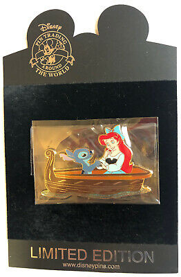 RARE Disney Shopping Pin Ariel Meets Stitch Le 125 Little Mermaid Lilo Ursula