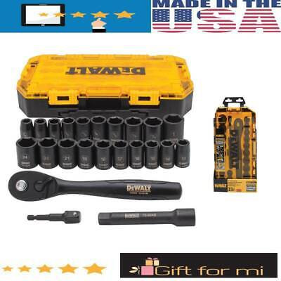 ORIGINAL DeWALT DWMT74739 1/2-Inch Drive Combination Impact Socket Set - 23pc