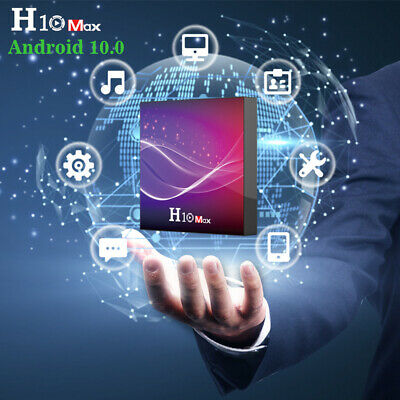 H10 MAX Android 10.0 Smart TV BOX Quad Core WiFi 6K Media Player 4G+32G/64G R1C5
