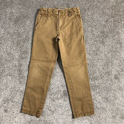 FAT FACE Boys Age 7 Years Adjustable Waist Sand/Brown Jeans Trousers