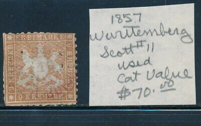 Own Part Of Wurttemberg Stamp History 1 Issues Cat Value $70.00
