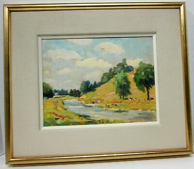 Ontario Riverscene/Clouds - OIL - Wakeford Gerald Dix (b. July 4, 1888-d.1970).