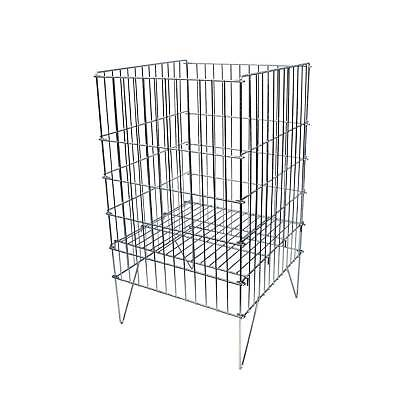 Zinc Dump Bin Basket 400mm Retail Shop Merchandising Display Storage Bin (K67)