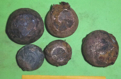 ANCIENT VIKING BRONZE-IRON TRADER WEIGHT ca 10-12 century AD SET OF 5 pc. 317