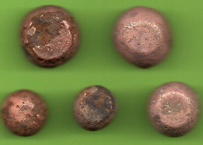 ANCIENT VIKING BRONZE-IRON TRADER WEIGHT ca 10-12 century AD SET OF 5 pc. 257