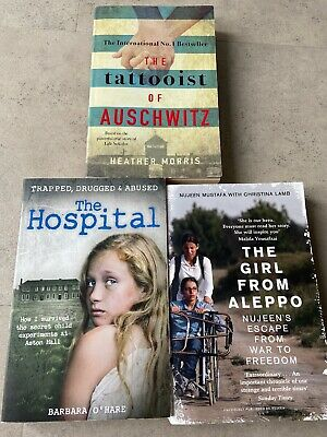 3 Books The Tattooist Of Auschwitz, The Girl From Aleppo, The Hospital