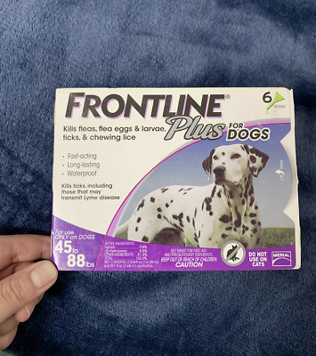 6 Doses Frontline Plus for Dogs Large Dogs (45 to 88 pounds) Flea Tick Treatment