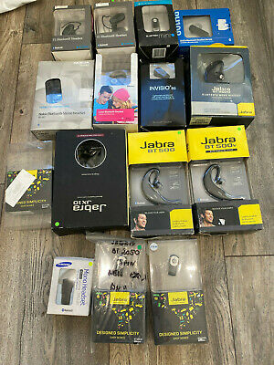 Joblot 15 BOXED MIXED BOXED BLUETOOTH HEADSETS IDEAL 4 Car Boot Sale