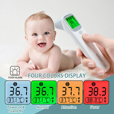 Baby Thermometer Infrared Digital LCD Body Measurement Forehead Ear Non-Contact