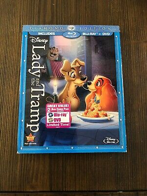 Lady and the Tramp Diamond Edition(Blu-ray/DVD) Includes Slipcover