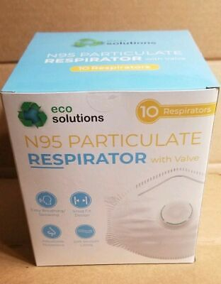 Eco Solutions N95 Particulate  Respirator Mask with Valve - 10 Masks