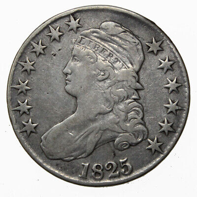 1825 50C Capped Bust Silver Half Dollar