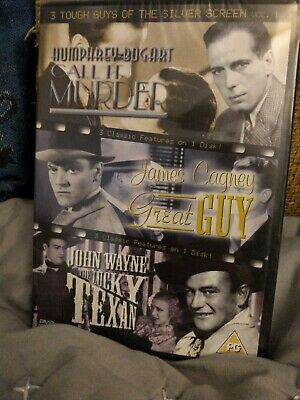 3 Tough Guys Of The Silver Screen - Vol. 1 (DVD, 2004) New Sealed