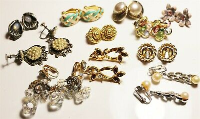 Vintage in Seattle Fantastic Earrings Lot#396 mixed lot with CORO 1928 brand