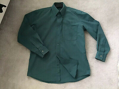 Boys Scouts Uniform Shirt Dk Green David Luke Size S