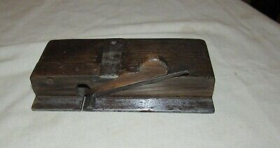 antique wooden side rebate plane old woodworking tool plane