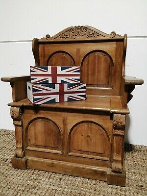 Pine Monks Bench Pew Settle Storage farmhouse country bench