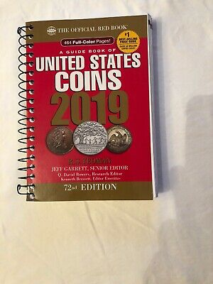 2019 Official Red Book of United States Coins Spiral Bound 72nd Edition Collect