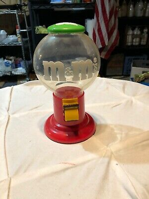 Gumball Machine Vintage Bubble Gum Globe Glass Candy M&M'S 1991