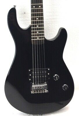 Full Size Black Electric Guitar With Humbucker and Maple Neck Scratch & Dent