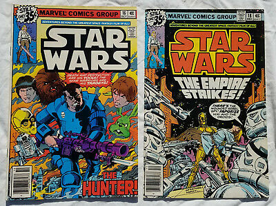 STAR WARS Marvel Comics #16 and #18 Lot Of 2 Comic Books 1978 Vintage Original
