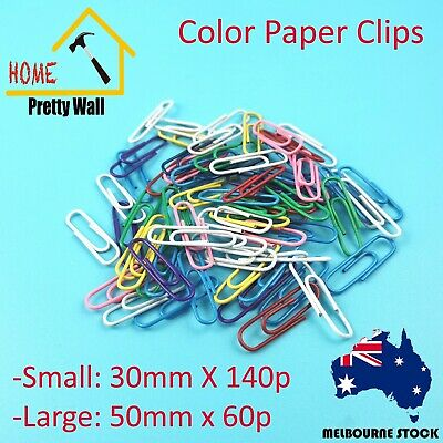 Color Paper Clips Office White Small Large 30mm 50mm Company Metal Assortment