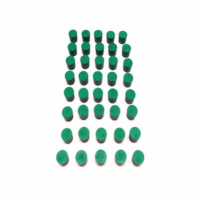 (Lot of 40) NEW Fisher Scientific #5 Green Solid Rubber Laboratory Stoppers