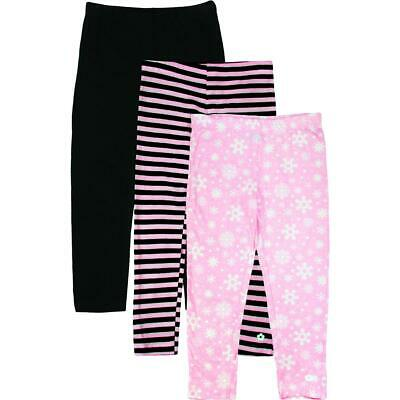 Limited Too Girls Pink 3 Pack Printed Holiday Leggings M 5/6 BHFO 2307