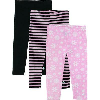 Limited Too Girls Pink 3 Pack Printed Set Leggings 2T BHFO 2151