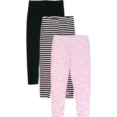 Limited Too Girls Pink 3 Pack Printed Set Leggings S 7/8 BHFO 2547