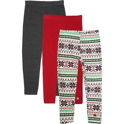 Limited Too Girls White 3 Pack Holiday Fair Isle Leggings S 4 BHFO 2276