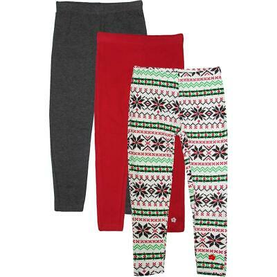 Limited Too Girls White 3 Pack Holiday Fair Isle Leggings M 5/6 BHFO 2279