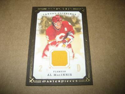 2008-09 Upper Deck Masterpieces Canvas Clippings Al MacInnis Hockey Card CC-AM1