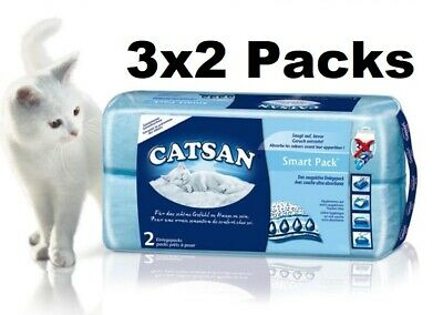 Catsan Litter Tray Inserts Cat Smart Pack Non Clumping Absorbent Hygiene 6 PACK