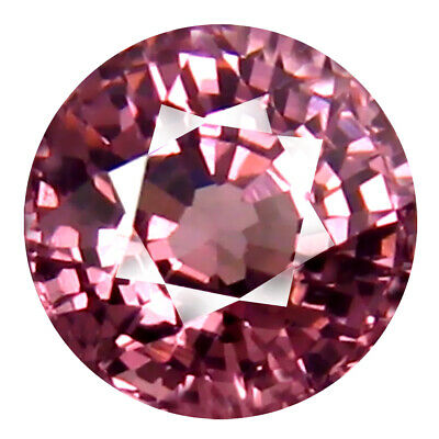 0.96 CT AAA + Ouvert les Yeux Rond Forme (5 X 5 mm) Rose Malaya Gemme Grenat