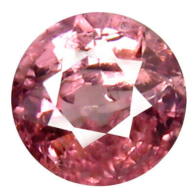 0.63 CT AAA + Incomparable Forme Ronde (5 X 5 mm) Rose Malaya Gemme Grenat