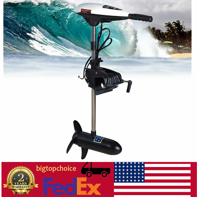 45LBS Electric Outboard Motor Inflatable Fishing Boat Propeller Short shaft 40cm