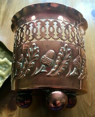 Vintage Antique Arts & Crafts Art Nouveau Copper Planter J.s.& S Joseph Sankey