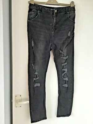 RIVER ISLAND black ripped skinny jeans age 12 yrs
